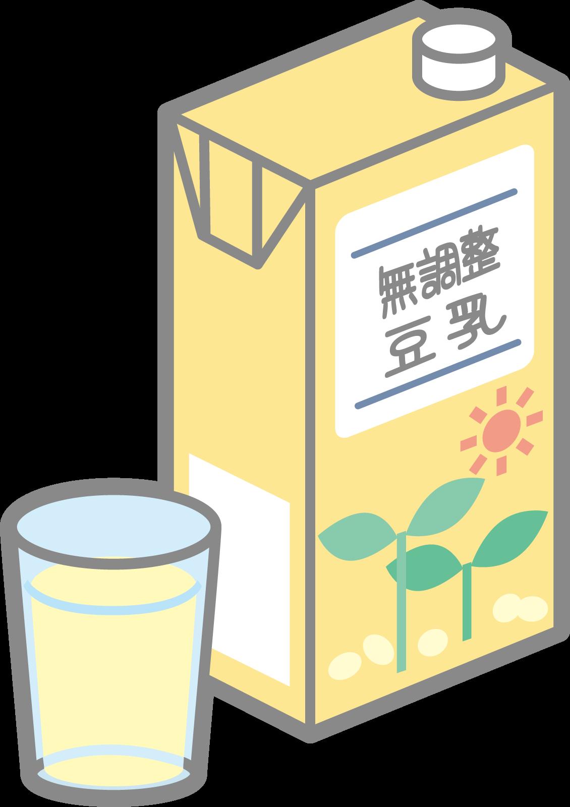 無調整豆乳のイラスト